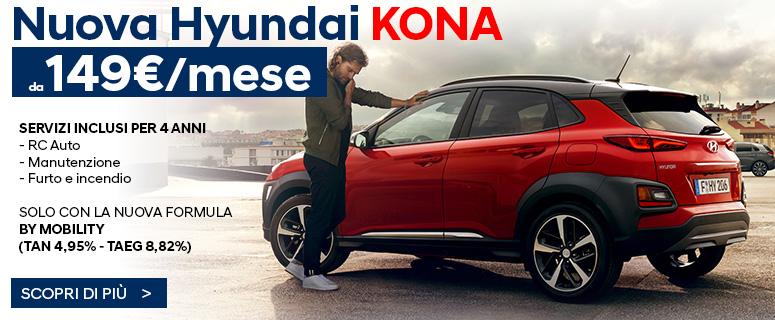 Nuova Hyundai KONA (1.0 TGDI Classic) da 149€ al mese