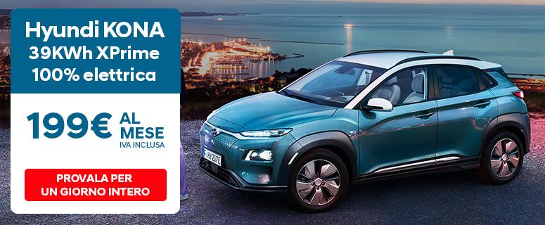 Hyundai Kona Elettric. Guida elettrico. Guida un SUV.