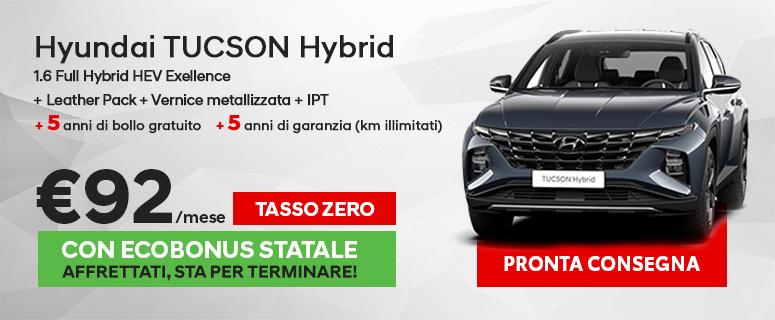 Nuovo Hyundai TUCSON Hybrid
