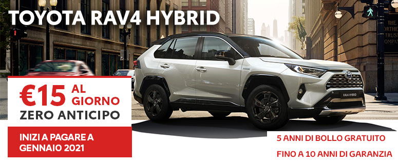 Novità: Nuovo Toyota RAV4 Hybrid - Prezzi 2019