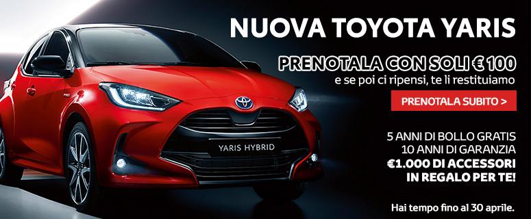 Nuova Toyota Yaris Hybrid 2020