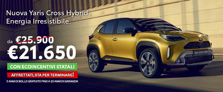 Finalmente è arrivata: Nuova Yaris Cross Hybrid il SUV compatto di Toyota