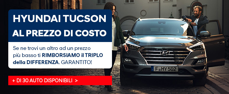 Nuova Hyundai Tucson - Promozioni e Prezzi
