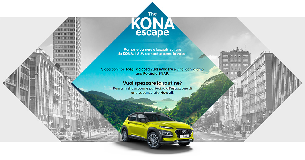Hyundai Kona viaggio Hawaii