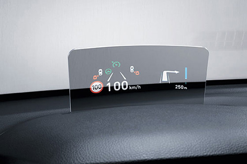 Hyundai Kona Head-up display (HUD)