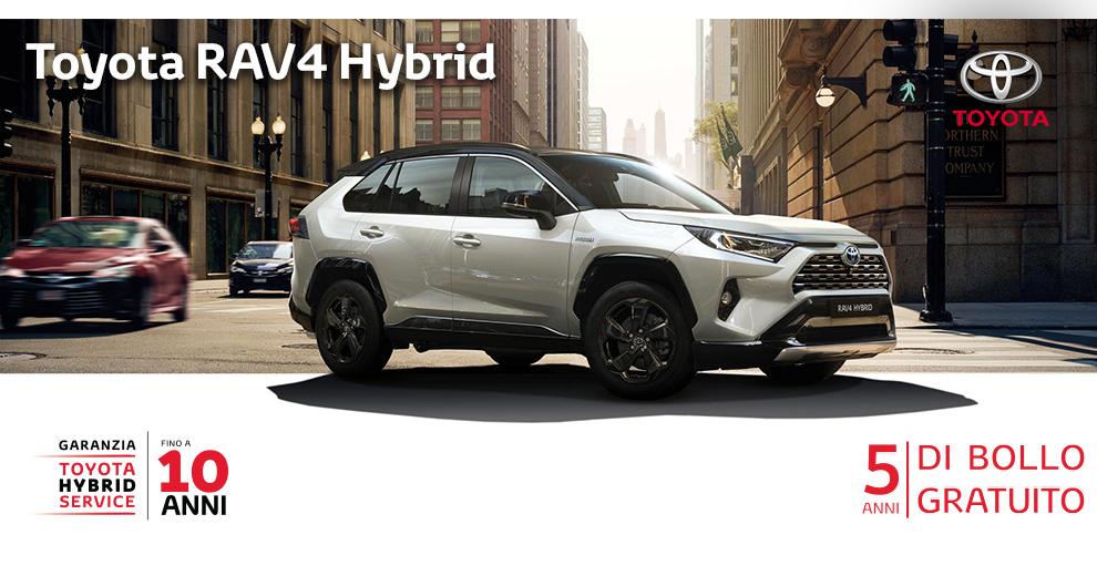 Toyota RAV4 2.5 HV (222CV) E-CVT AWD-i Active (Benzina Hybrid) - Dimensioni, Consumi e Dotazioni di serie
