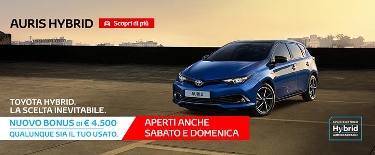 Promozione: TOYOTA Auris Hybrid Cool a €20.000 (invece di €24.500).