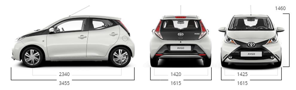 Toyota Aygo dimensioni