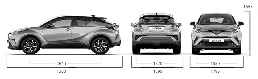 Toyota C-HR dimensioni