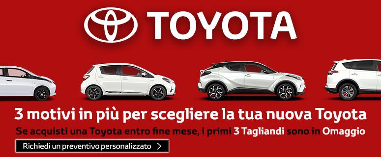 3 motivi in più per scegliere la tua nuova Toyota.