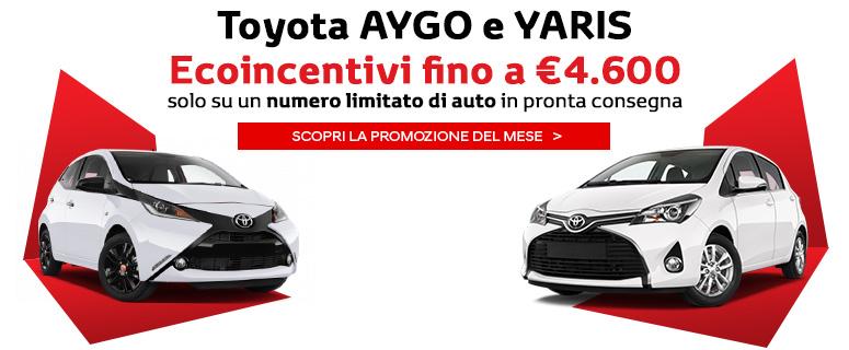 Toyota Aygo e Yaris con Ecoincentivi fino a €4.600