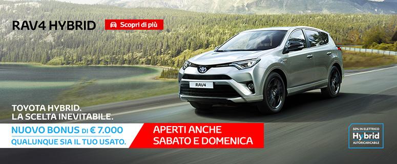 Promozione: Nuovo TOYOTA RAV4 Hybrid a €27.650 (invece di €34.650).