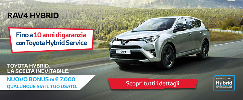 Promozione: Nuovo Toyota RAV4 Hybrid - Prezzo