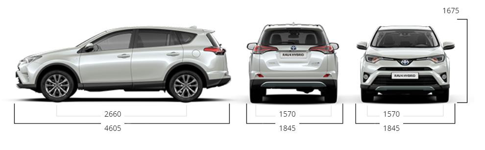 Toyota RAV4 dimensioni
