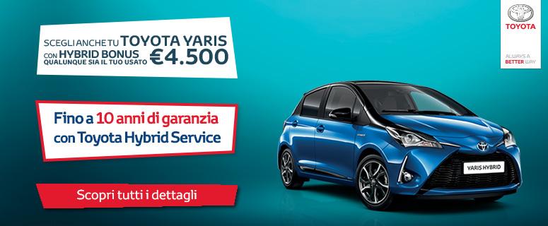 Promozione: Nuova Toyota YARIS Hybrid - Prezzo