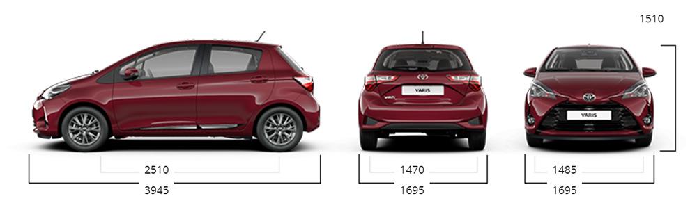 Toyota Yaris dimensioni